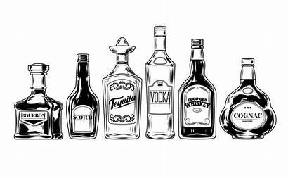 Alcohol Bottles Vector Clipart