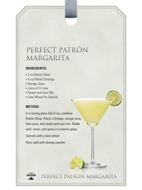 perfect patron margarita patron tequila drink recipes