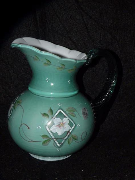 fenton glass ls fenton glass 75th anniversary spruce green pitcher