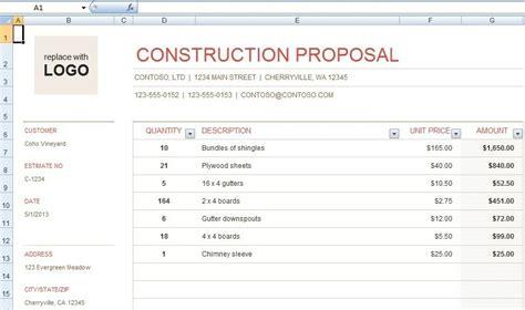 Construction Bid Template Archives