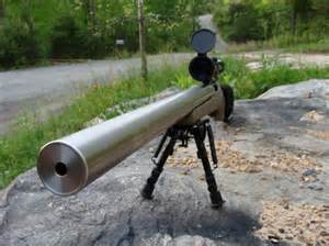 Rifle with Built in Suppressor