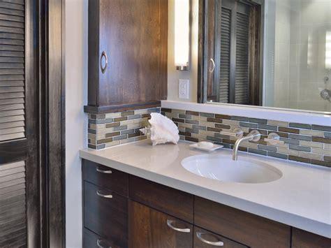 bathroom backsplash ideas glass tile backsplash in bathroom 4029
