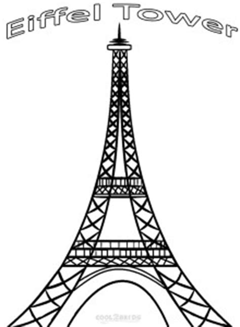 printable eiffel tower coloring pages  kids coolbkids
