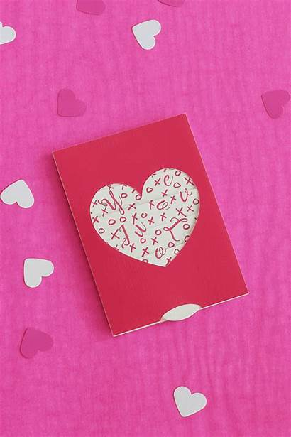 Pull Printable Push Card Diy Valentines Valentine