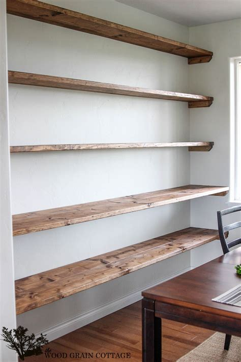 Wall To Wall Shelving by Diy Dining Room Open Shelving New Home Easy Home Decor