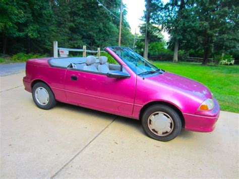 pink convertible cars 1993 geo metro convertible pink for sale in woodbridge