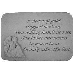 heart  gold stopped beating sympathy stone