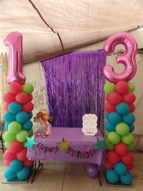birthday balloon columns party decorations  teresa