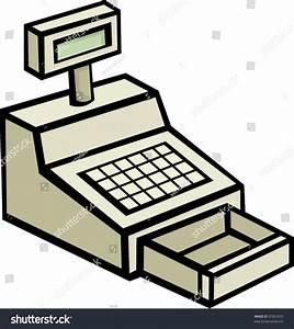 Cash Register Machine Stock Vector 37891870 - Shutterstock