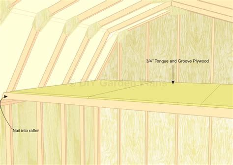 10x12 Storage Shed With Loft Plans by Gambrel Shed Plans With Loft Loft