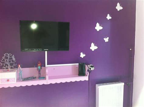 chambre mauve et blanc chambre style papillon photo 5 7 sa 1 er tele