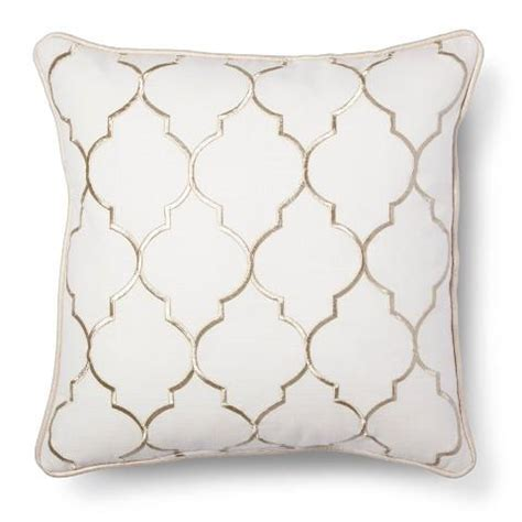 white decorative pillows white sofa pillows gold embroidered fret decorative pillow