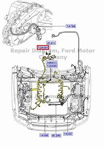 New Oem Engine  U0026 Transmission Wire Assembly Ford Mercury  7l2z