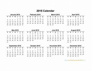 printable yearly calendar 2015 2017 printable calendar With 2015 yearly calendar template in landscape format