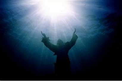 Christ Abyss Statue Jesus Bronze Water Sea