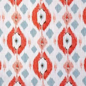 coral ikat upholstery fabric for furniture by With ikat fabric coral