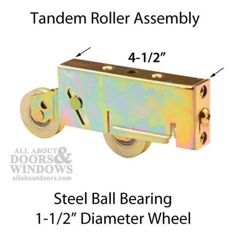 tandem roller assembly sliding patio door steel