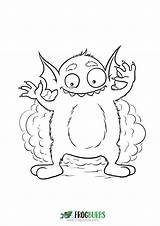 Coloring Monster Silly Friendly sketch template