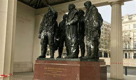 disrespectful fury  vandals deface world war  memorial  fourth time uk news