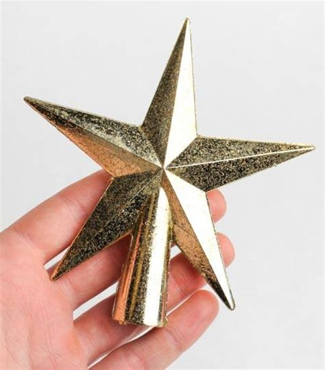 small christmas tree topper small gold glittered tree topper trees and toppers 7829