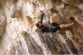 Overhanging rock climbing jpg  Rock Climbing