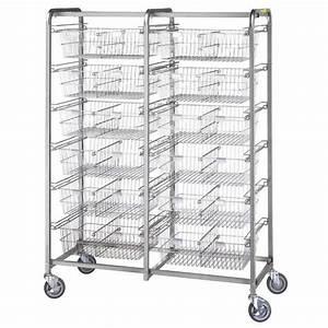 R&B Twelve Basket Resident Item Cart   Medical Cart