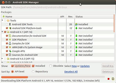 installing android sdk on ubuntu 12 04 vienergie