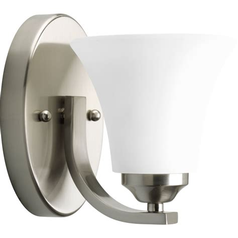 progress lighting adorn collection brushed nickel 1 light