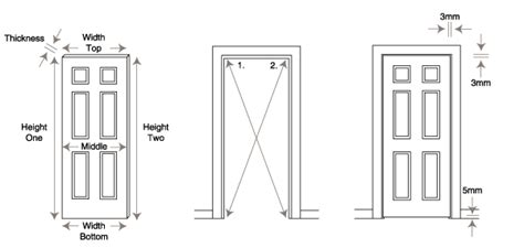 how to the correct interior door size aculo doors