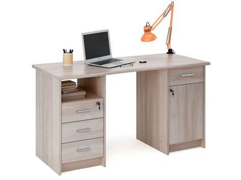 conforama le de bureau bureau 135 cm monaco coloris chêne shannon vente de