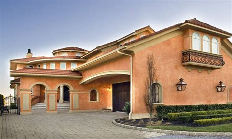Mediterranean Style House Colors For Homes One Story