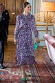 Crown Princess Victoria stuns in florals as she welcomes ...
