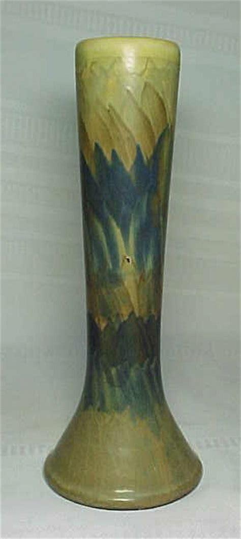 peters  reed pottery landsun vase tall impressive