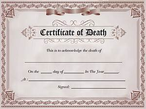 8 death certificate templates free word pdf documents With baby death certificate template
