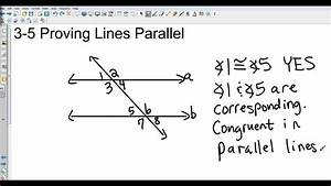 Geometry 3 5 Proving Lines Parallel