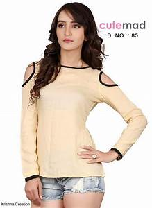 Krishna Creation u00bb CUTE MAD SHORT TOP JEANS TOP GIRLS TOPS COLLECTION BUY ONLINE