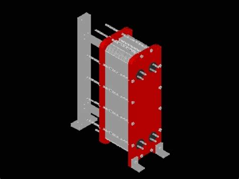 multi plate heat exchanger  autocad cad  kb