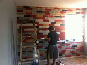 Hometalk How to Make a Faux Brick Wall Using Paint