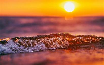 Sunset Wave Wallpapers Sun Rising 4k Nature