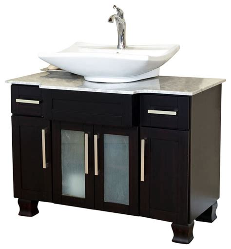 Single Sink Consoles Bathroom by 40 Inch Single Sink Vanity Mahogany Modern