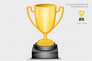 Gold Trophy Cup Icon (PSD), free vectors - 365PSD.com