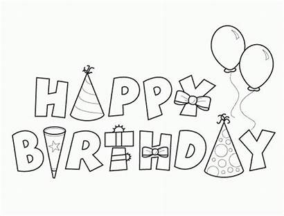Coloring Birthday Happy Pages Printable Pdf