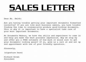 sample sales letter 3000 With a sales letter