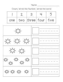 numbers 1 10 count write number write word by jennifer harman tpt