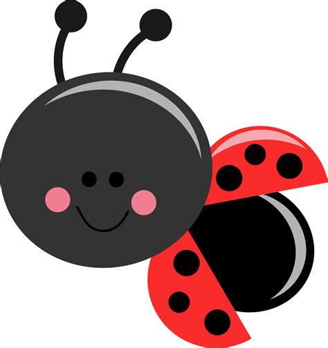 Bug Clip White Flower Clipart Ladybug Pencil And In Color