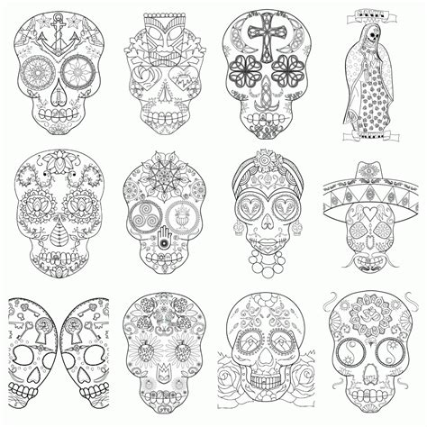 sugar skull coloring book cool skull design coloring pages coloring home