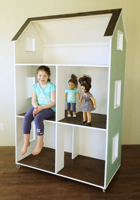 ana white  story american girl   dollhouse
