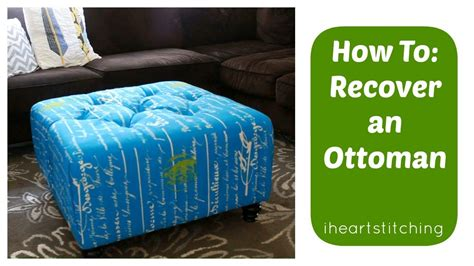 How To Recover An Ottoman Youtube