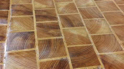 end grain cobble block wood tile flooring