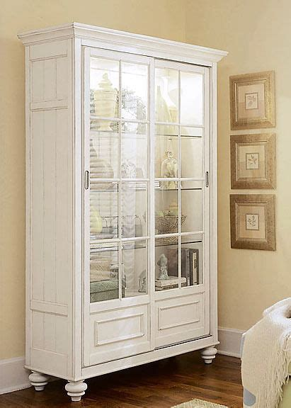 china cabinet with lights antiqued white lighted china curio cabinet bookcase ebay